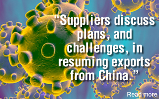Suppliers discuss plans, and challenges, in resuming exports from China.