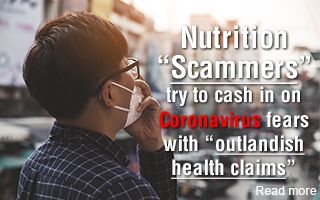 "Nutrition ""scammers"" try to cash in on coronavirus fears with ""outlandish health claims"""