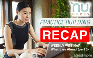 RECAP: Nuherbs Practice Building - Strategies for What Lies Ahead part 2